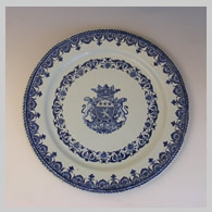 Antique French faience charger