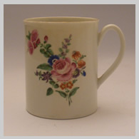 Worcester mug with painted flowers