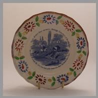 Victorian child's plate with motto