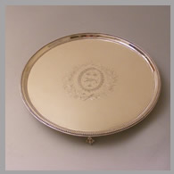 George III silver salver by Robert Jones
